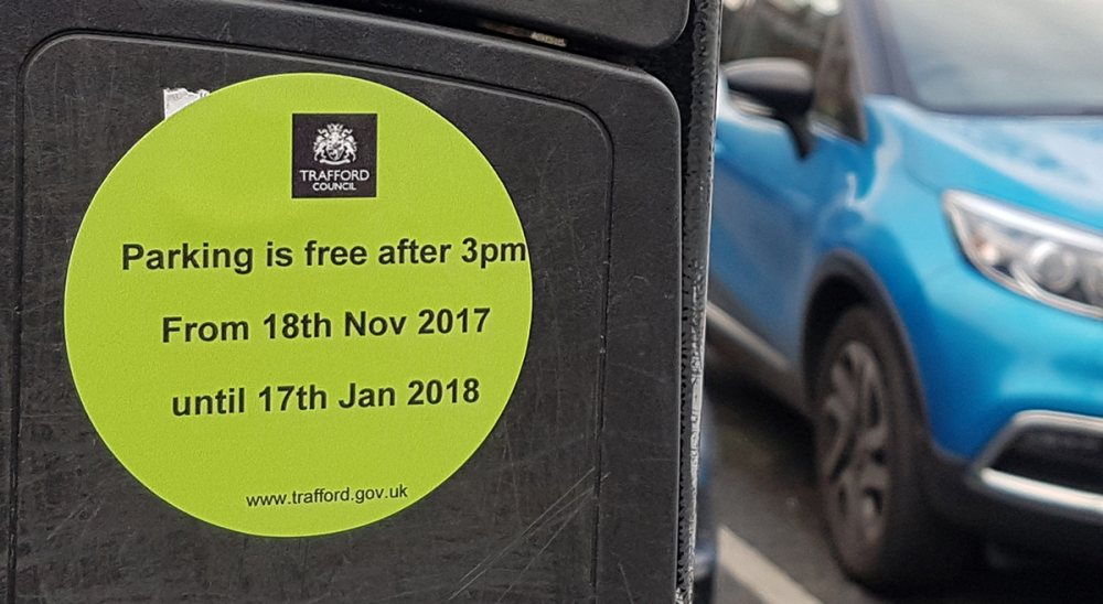 Trafford Council launches 'Free after three' parking