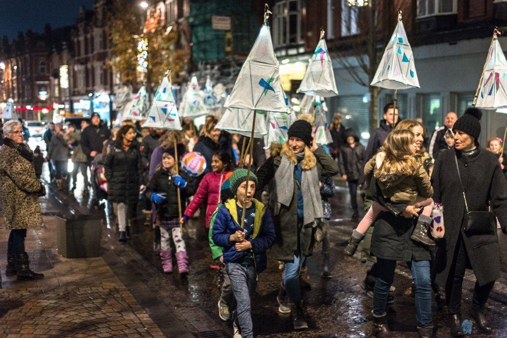 Stunning Lantern Parade gets Altrincham feeling festive
