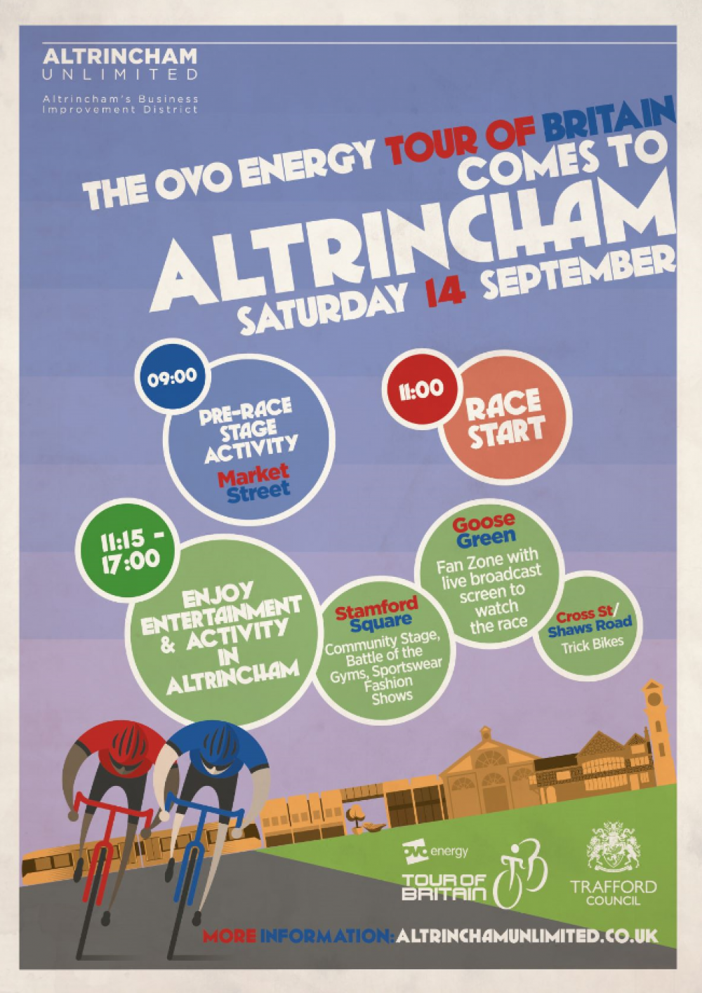 What's On when the OVO Energy Tour of Britain comes to Altrincham