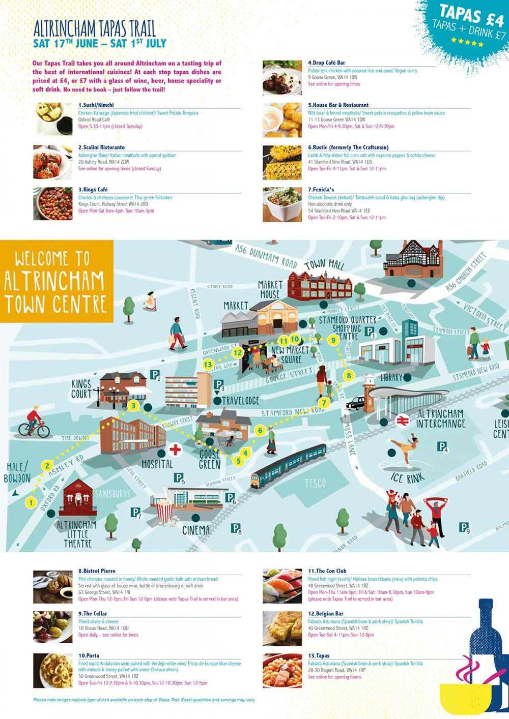 Tapas Trail Map