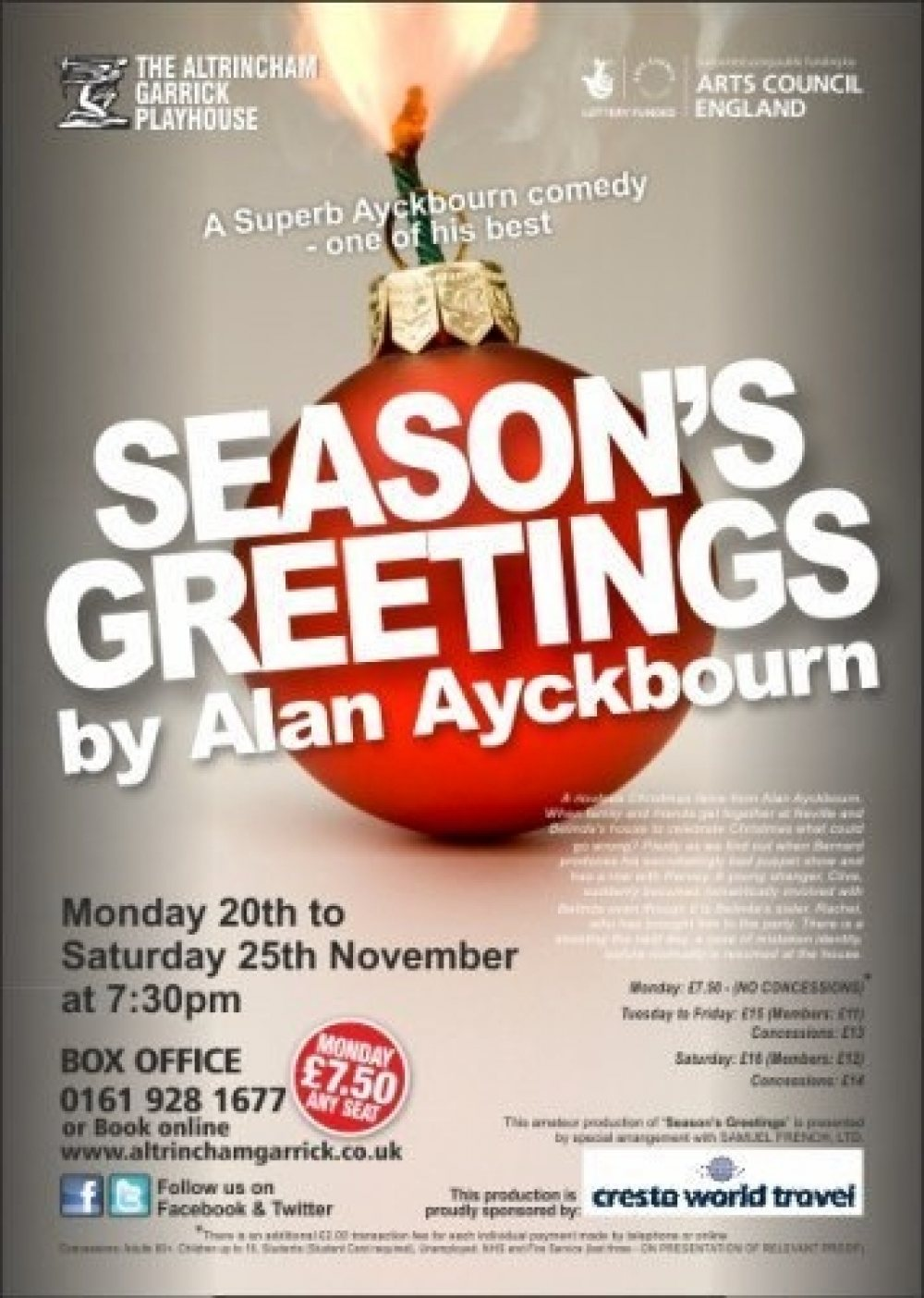 Seasons greetings whats on altrincham unlimited seasons greetings a riotous christmas farce from alan ayckbourn m4hsunfo