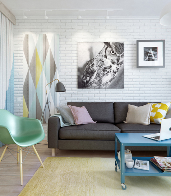 apartment-colorful-pastel-white-nordic-tolix