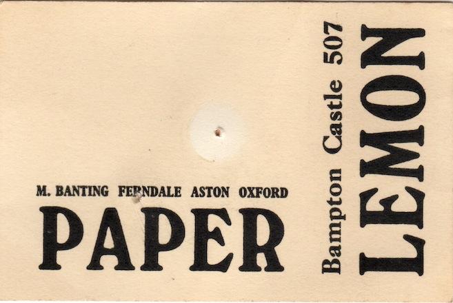 paper lemon 1970