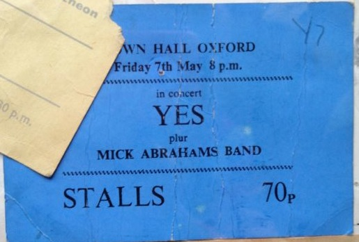 yes ticket 1971
