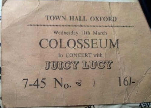 colosseum and juicy lucy 1970
