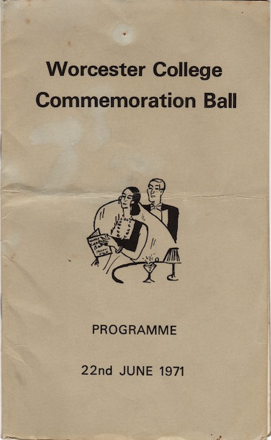 Worcester College Ball Programme 1971