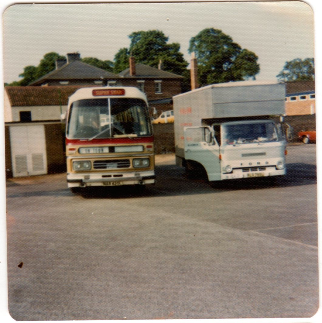 Band bus and crew truck 74