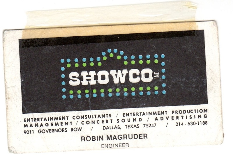 showco card