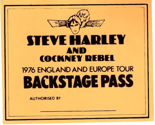 Backstage pass Timeless Flight tour
