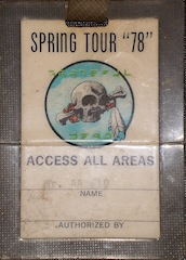 My 78 April tour pass