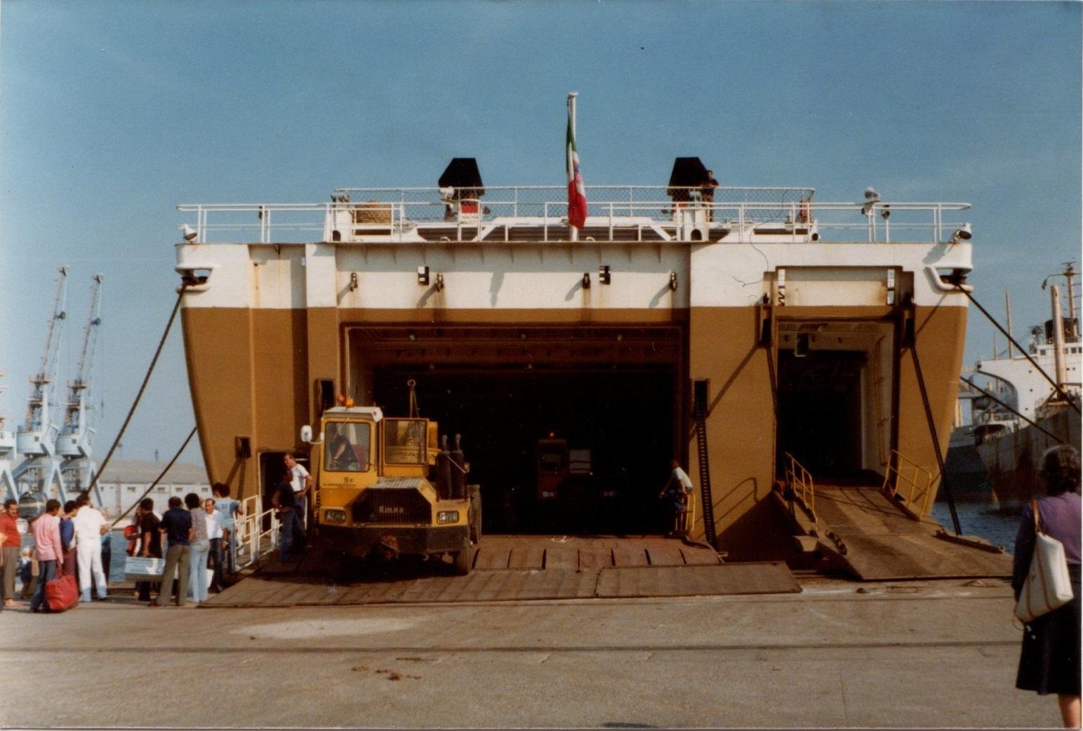 Venice boarding the ship to Egypt