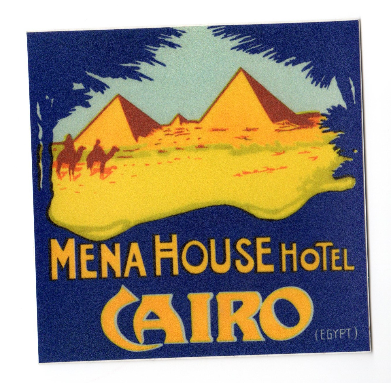Mena House hotel sticker
