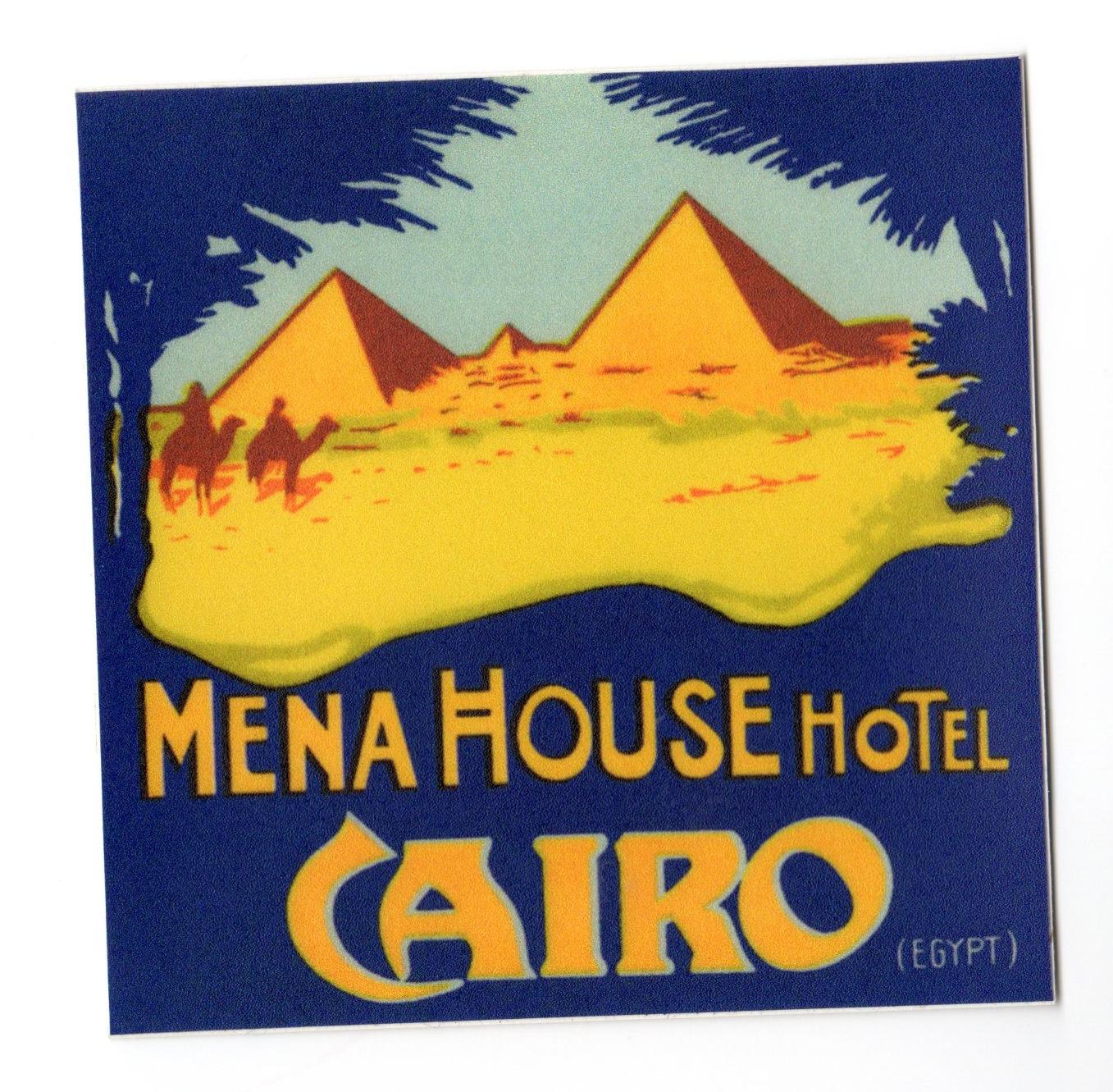 Mena House hotel sticker