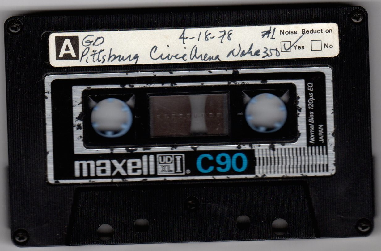 cassette tape to april 18th 78 show