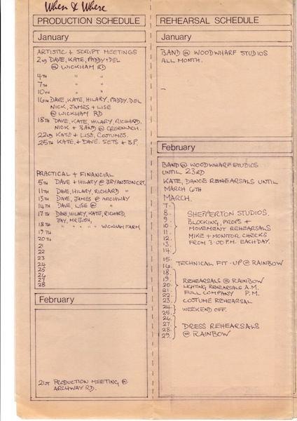 Kate Bush production schedule 1979