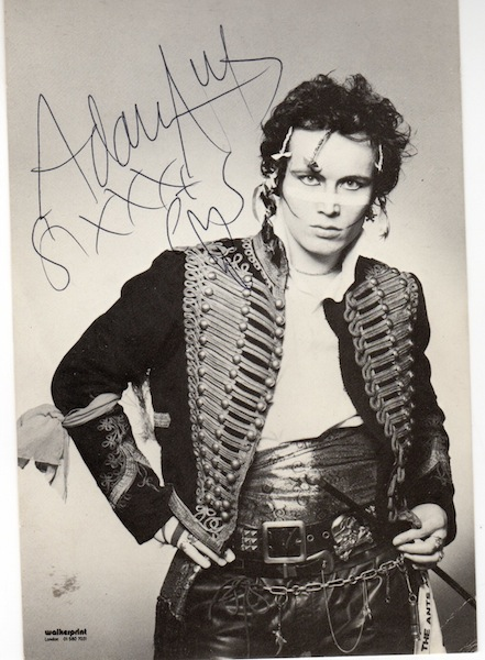 Adam Ant signed photo