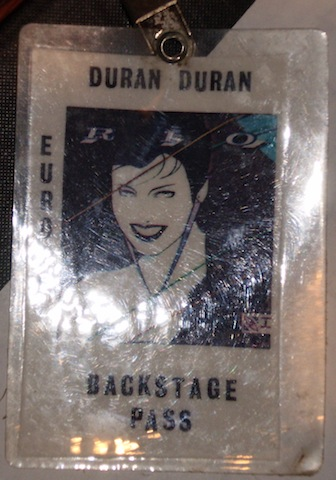 Backstage pass for Europe 82