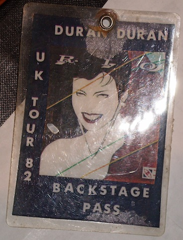 Backstage pass for UK 82
