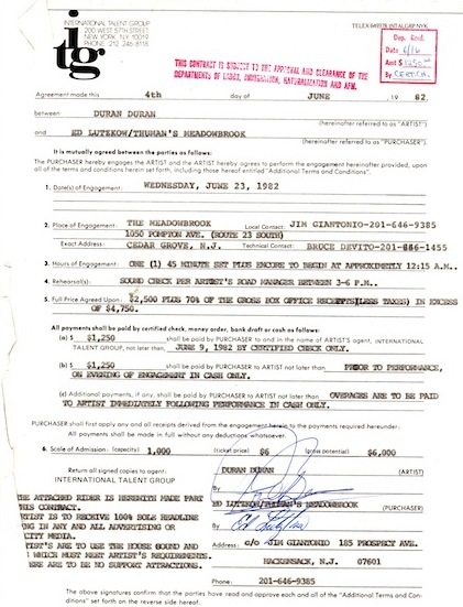 meadowbrook contract june23 1982