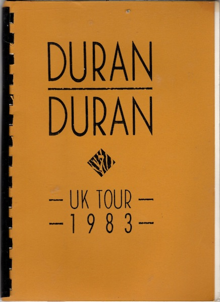 DD Tour Itinerary UK 1983 front cover