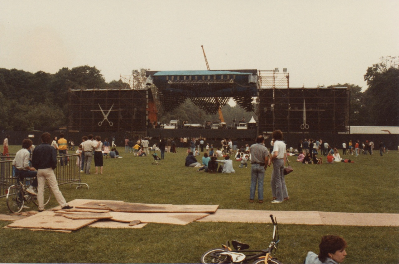 supertramp stage paris 83 set up