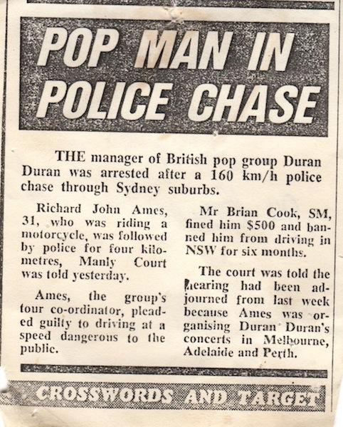 police chase sydney 83