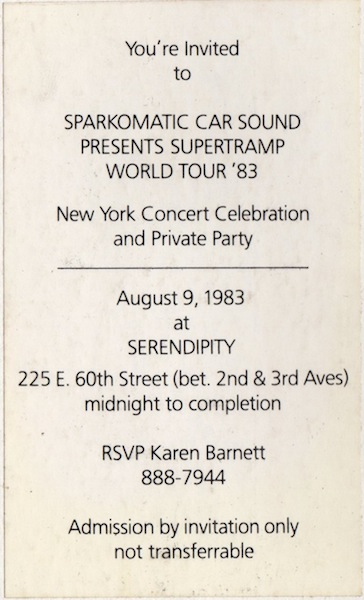 SPARKOMATIC PARTY INVITATION 83