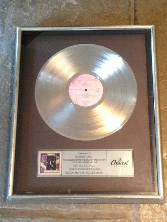 my platinum record 7 and the Ragged Tiger