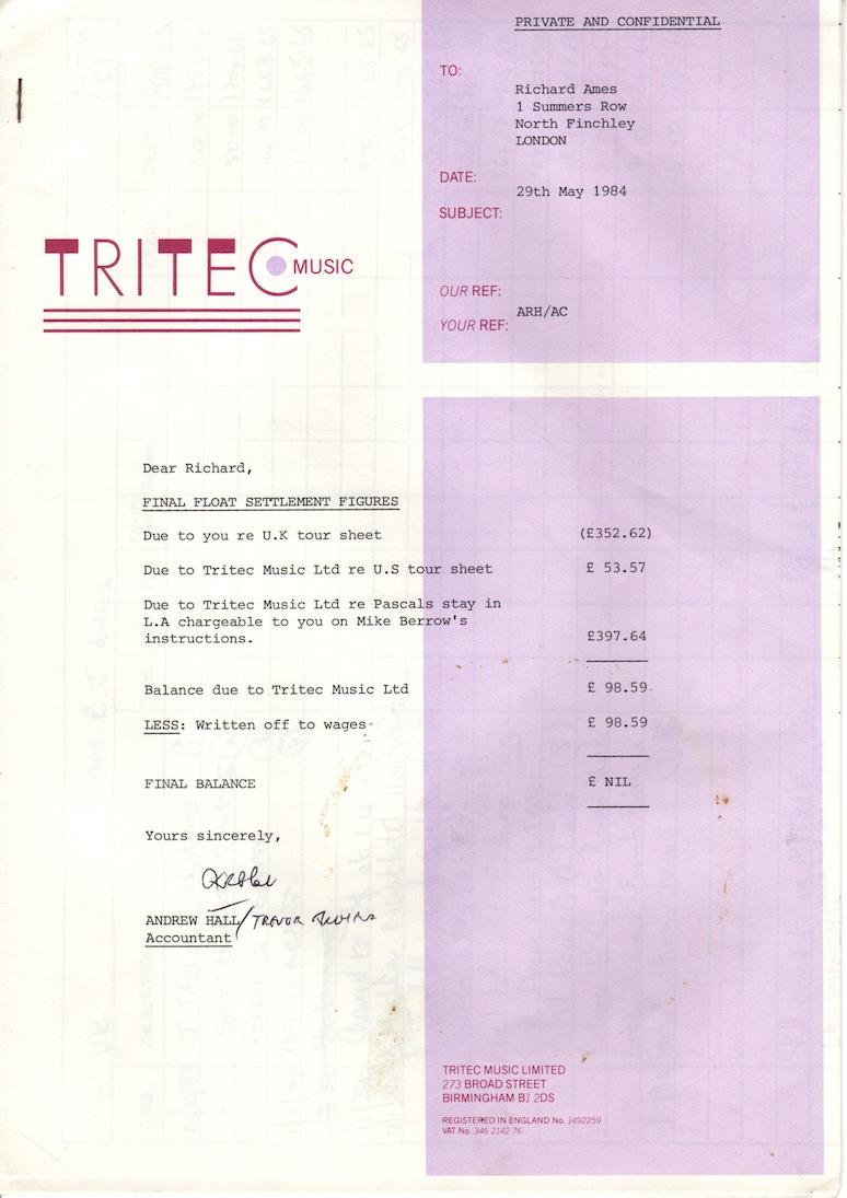 final settlement sheet 84 tritec