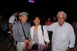 Ο επίτιμος πρόεδρος 2011 του Διεθνούς Ινστιτούτου Θεάτρου, Geong Ok Kim...