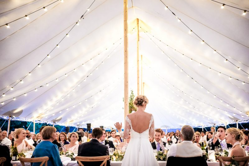 Bride's Speech at a marquee wedding in the UK