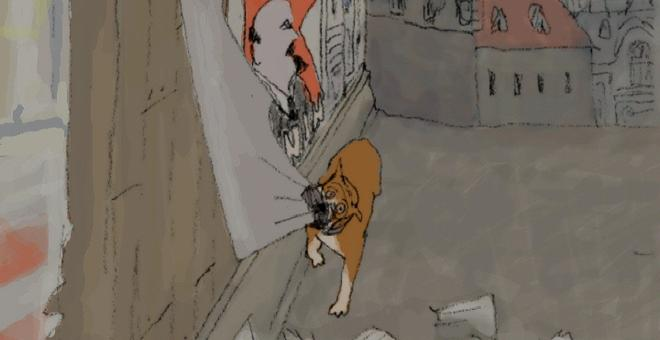 2636-still_life_with_animated_dogs_lenin_and_ike