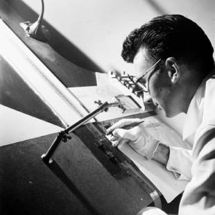 295-norman_mclaren_drawing_on_film_-_1944