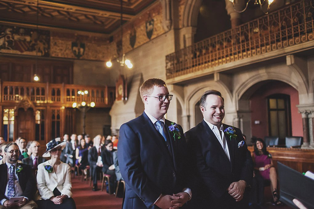 Manchester Town Hall wedding photographer 013