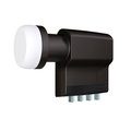 BLACK Premium Quad LNB, 40mm, NF=0.2dB