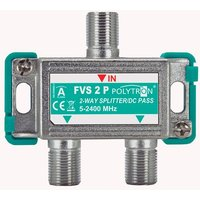 F-splitter 2-way, 5-2400 MHz, DC through loss