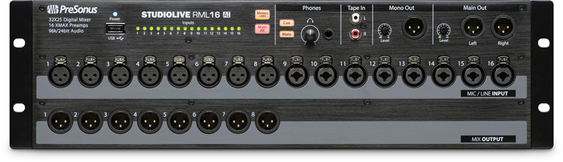 STUDIOLIVE RML16AI - Mikser Cyfrowy Rack