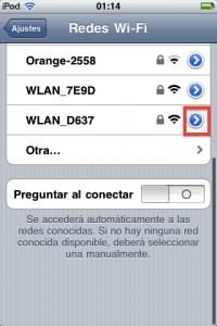 Acceder a la configuración de la red WiFi