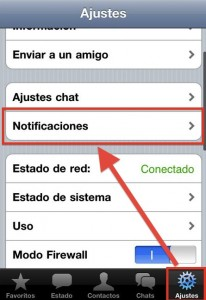 Ajustes del WhatsApp en iPhone
