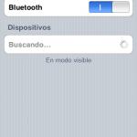 Cuando lo activas se pone a buscar dispositivos bluetooth