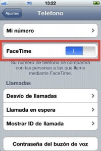 Activar FaceTime en el iPhone