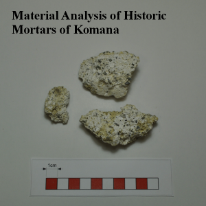 ArkeoLab material analysis of historic mortar