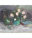Trandafiri, cărţi şi scrumieră