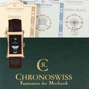 Ceas Chronoswiss, Digiteur, de mână, bărbătesc, din aur roz, ediţie limitată (ex. 43/99)