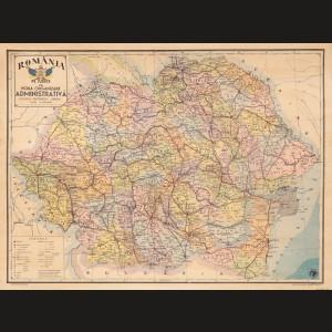 Harta administrativă a României Mari