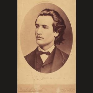 Mihai Eminescu, portret la 19 ani, fotografie rară de Bernhard Brand