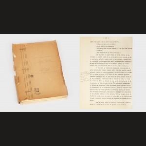 """Manuscrisul romanului """"Principele"""" de Eugen Barbu, cu adnotări și corecturi făcute de autor"""