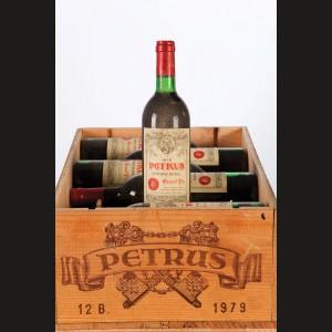Château Petrus 1979 75 cl. în cutie de lemn, 12 sticle x 75 cl.