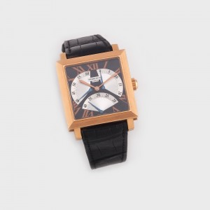 Ceas Pierre Kunz Triple Retrograde de mână, bărbătesc,  din aur roz