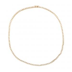 Frumos colier din aur, decorat cu diamante